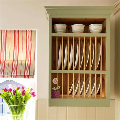 Painted Plate Rack by Step Inside This Traditional Muted Green Kitchen Ideal Home