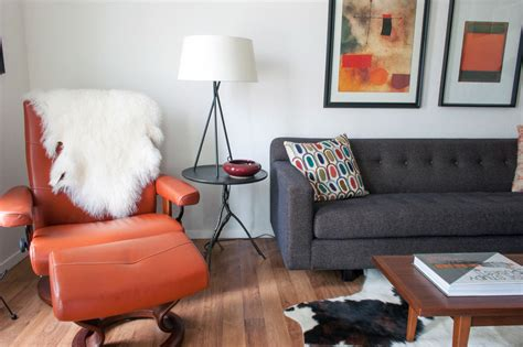 Orange Living Room Chair Burnt Orange Chair Living Room Midcentury With Abstract Button Upholstery Beeyoutifullife