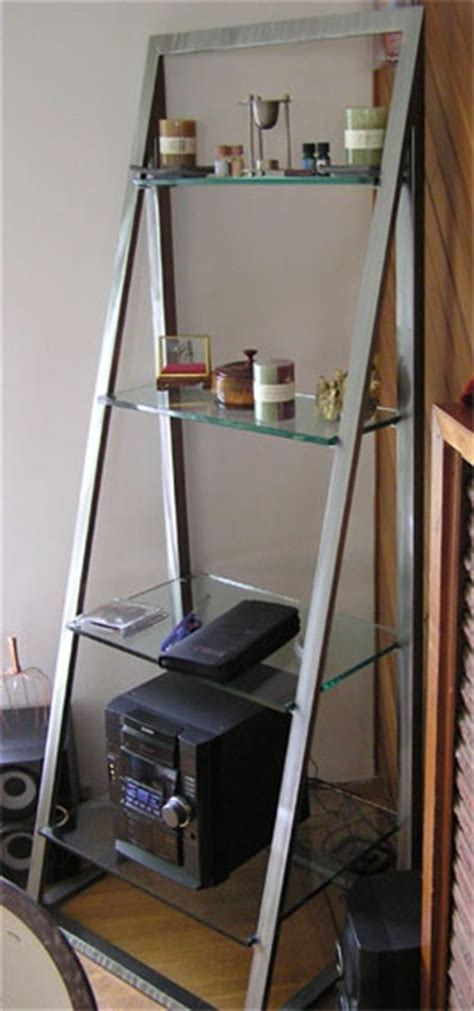 Glass Ladder Shelf by Metal And Glass Ladder Shelf House Lusts