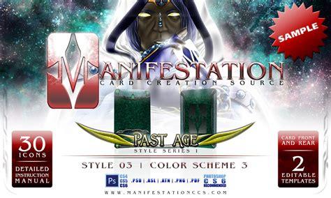 manifestation card template manifestation ccs past age series i style 03 sle