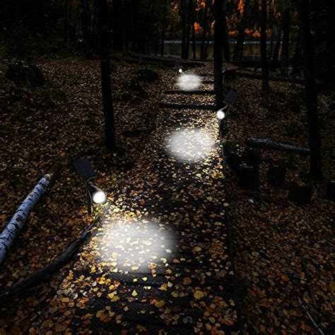 Outdoor Led Landscape Lights Separated Panel And Stake 200 Lumens Solar In Ground Lights Wall Lights Waterproof 4 Led