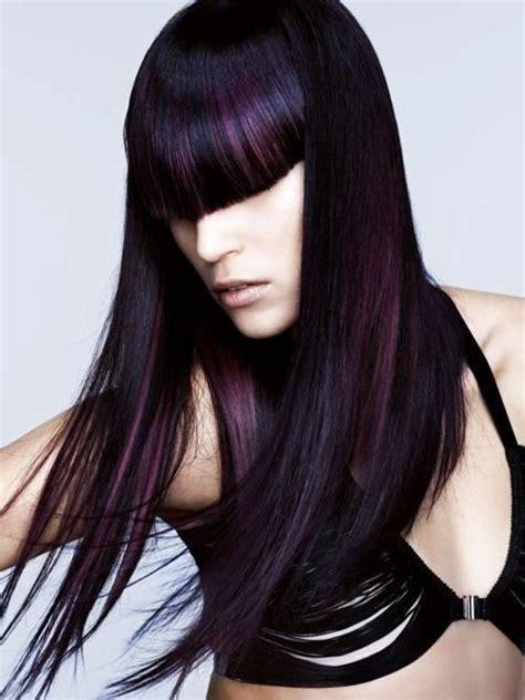 purple hair black dark black hair with purple streaks purple hair hair