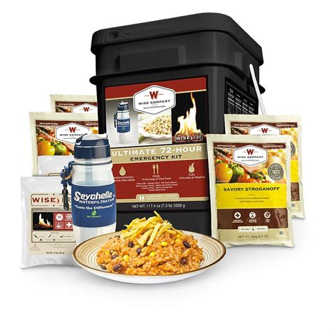 wise emergency food supply ultimate 72 hour survival kit 72 servings 620441 survival food