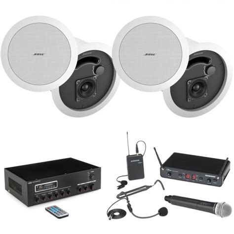 Meeting Wireles Speaker Mbox 8 Inch conference room sound system with 4 bose in ceiling speakers ma30bt bluetooth mixer lifier