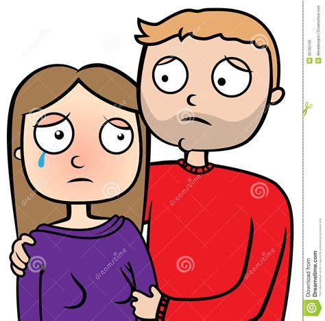 sad couple cry stock  image
