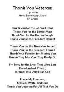 veterans day thank you poems meek elementary school