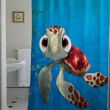 nemo bathroom decor squirt finding nemo shower curtain that from telocurtain