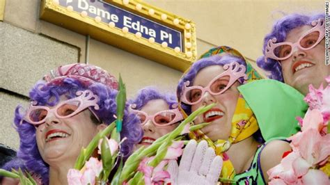 Dame Edna Gets Melbourne Named After by Australia Splits Hairs Curly And Titswobbles Cnn