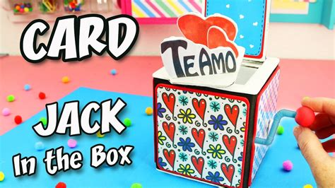 Jack In The Box Gift Card - i love you card jack in the box original gift apasos crafts diy youtube