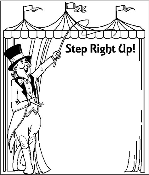 carnival coloring pages pdf free printable circus clip art carnival coloring page