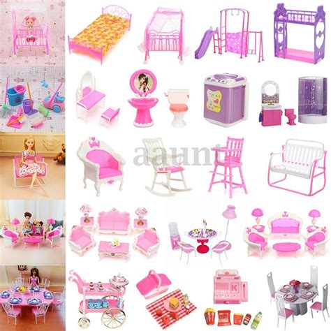 miniature doll houses accessories miniature dollhouse toys furniture accessories for barbie bathroom living room ebay
