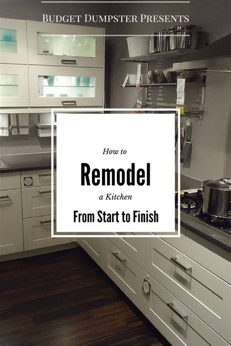 how to remodel a kitchen from start to finish
