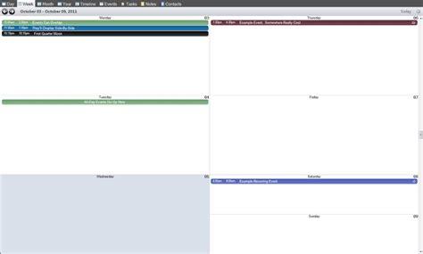 Layout Grid Mode   vueminder help week view