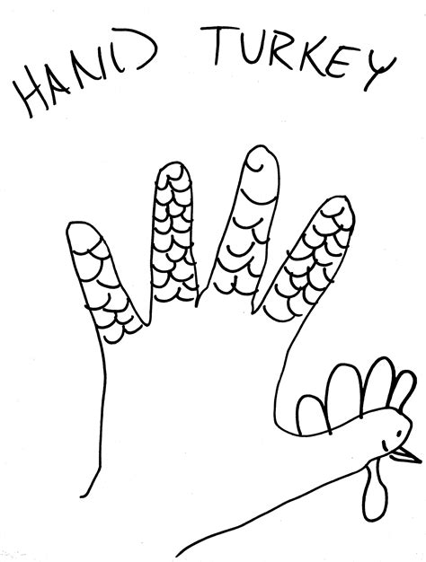 printable life size turkey head target day 293 hand turkey 171 making made