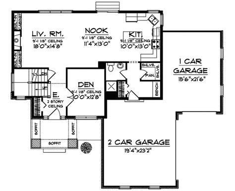 utah floor plans utah place craftsman home plan 051d 0580 house plans and