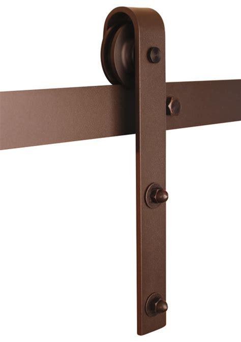 Classic Barn Door Hardware Classic Barn Door Hardware Kit Bronze 6ft Track For 36 Quot Or Smaller Door Traditional Barn
