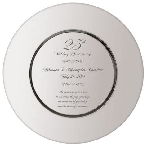 25th anniversary plates personalized personalized 25th wedding anniversary plate
