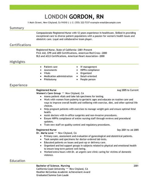 nursing resume exles nursing resume in 2016 6 tips to follow