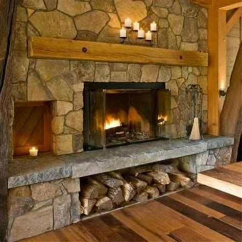 fireplace with hearth fireplace with wood storage below my style