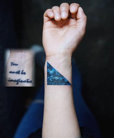 watercolor triangle tattoos watercolor triangle on the right inner wrist
