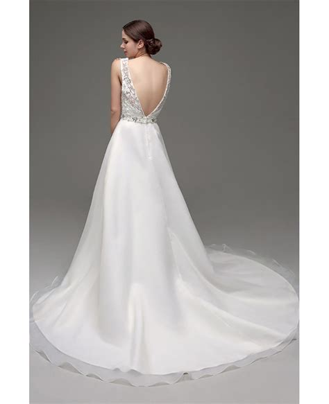 beaded backless wedding dress cheap gorgeous backless wedding dress beaded with lace