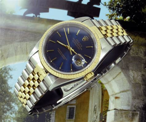 beautiful gents bi metal rolex datejust ref 16233 items