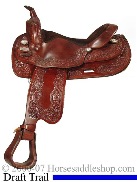 horse saddle 16 quot big horn draft cross horse saddle 1680