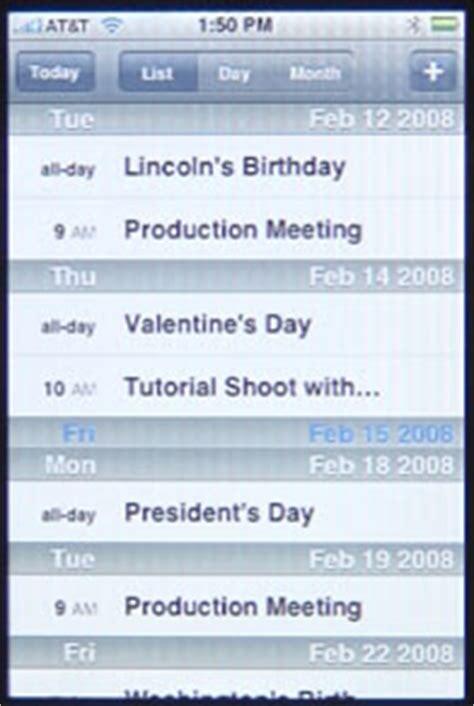 Iphone Calendar List View Iphone Calendar Macmost