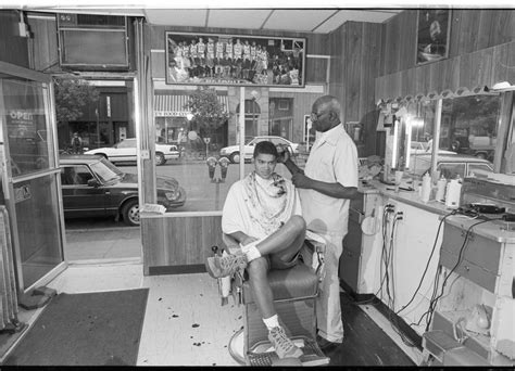student haircuts ann arbor hall s barber shop july 1990 ann arbor district library