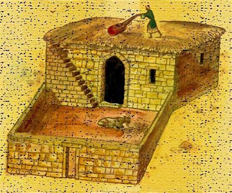 historic use of thresh on floor biblical times ancient israelite house of a commoner