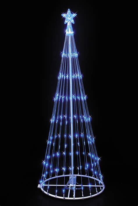 blue led lightshow tree