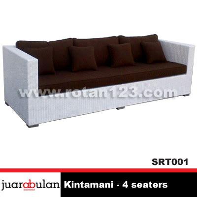 Sofa Rotan Sintetis harga jual kintamani 4 seaters sofa rotan sintetis model