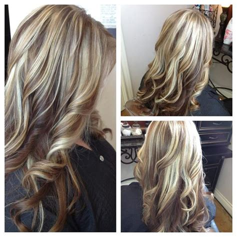 hi and low lights on layered hair low lights long layers hairstyles how to