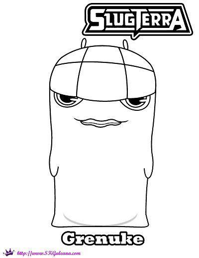 slug template slugterra elementals slug coloring pages only coloring pages