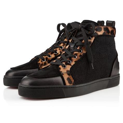 louboutin sneakers christian louboutin rantus orlato leopard pony sneakers