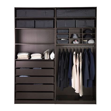 ikea pax kleiderschrank pax wardrobe black brown sekken frosted glass