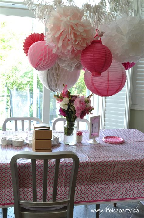 little decorations pink paris birthday party activities and decorations