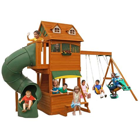 cedar summit forest hill retreat playset f23180 the home