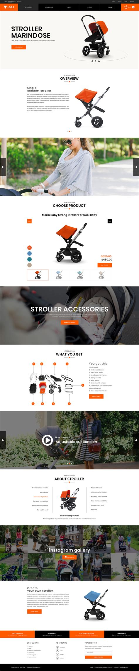 Lone Single Product Ecommerce Psd Template By Themetidy Themeforest Single Product Ecommerce Website Template