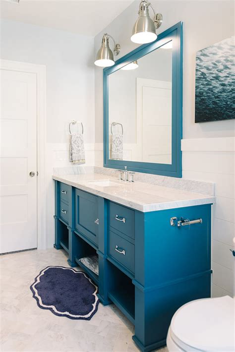 blue bathroom cabinet inspiring family home interiors home bunch interior