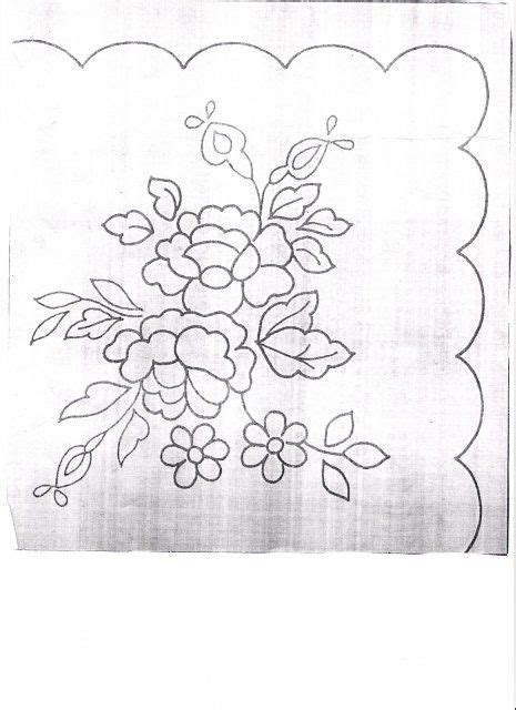 imagenes de flores para bordar a mano dibujos para bordar dibujos para bordar servilletas