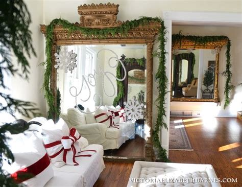 how to decorate a victorian home christmas decorating idea write with glitter on a mirror