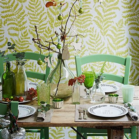 Green Themed Dining Room Woodland Themed Green Dining Room Decorating