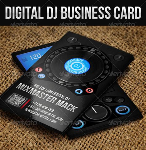 free dj business card psd templates 50 creative psd business card templates