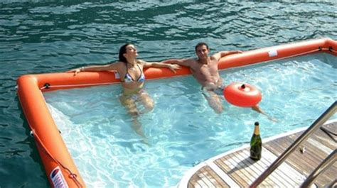 tekne poole here s an inflatable pool for your boat bit rebels