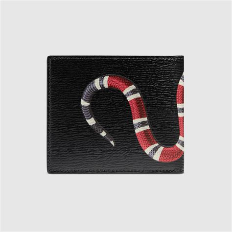 Wallet Gucci D3771 1 kingsnake print leather wallet gucci s billfold wallets 451268dur1t1058
