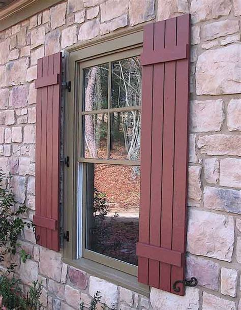 Doors Windows Exterior Natural Wood Shutters Exterior Exterior Windows And Doors
