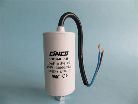 5 mfd 250v capacitor 3 5mfd 250v cbb60c bipolar cable motor run capacitor cinco capacitor china ac capacitors factory