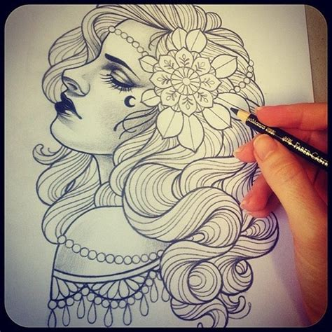 gypsy head tattoo design tattoos and related goodies