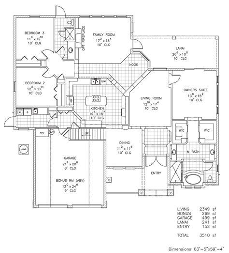 ashburn i custom home floor plan palm coast and